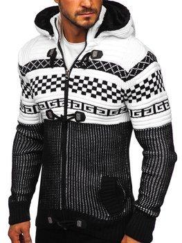 Черный мужской свитер толстой вязки Bolf 2061