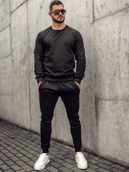 Черный мужской спортивный костюм Bolf D001