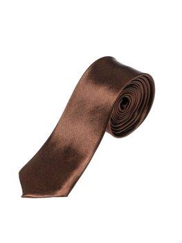 Элегантный мужской галстук коричневый Bolf K001