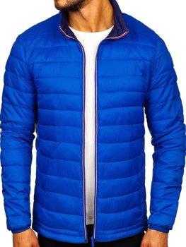 Мужская демисезонная спортивная куртка синяя Bolf Ly1017