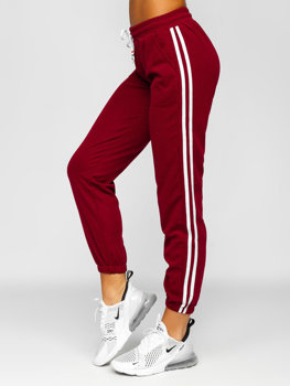 Бордовые женские шорты Bolf YW01020D