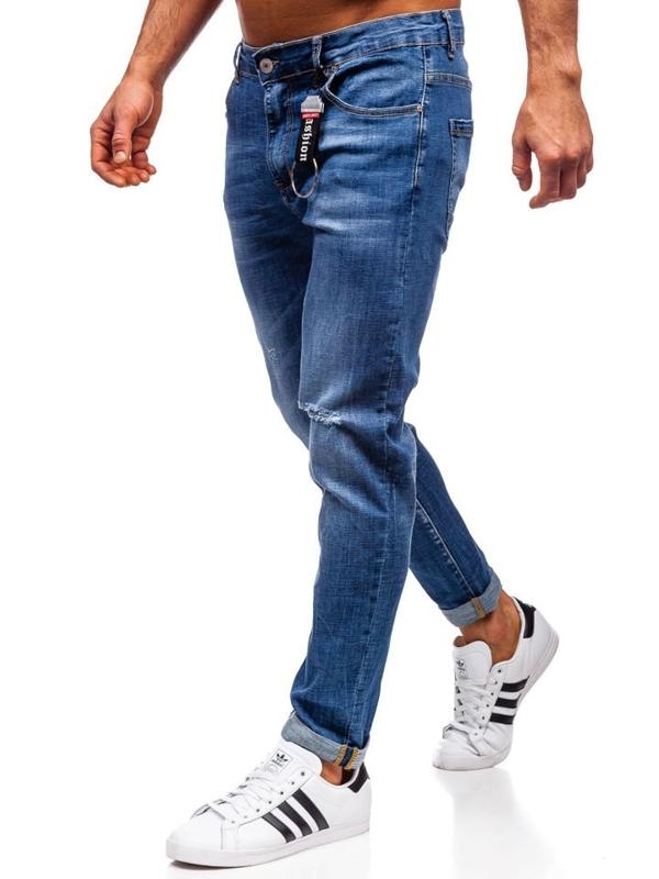 Джинсы мужские regular fit темно-синие Bolf KX296