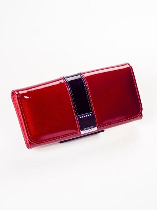 Женский кожаный кошелек красный 1213