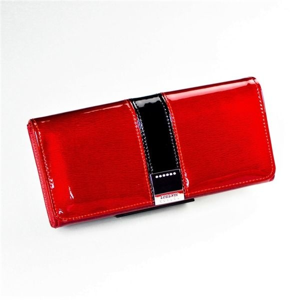 Женский кожаный кошелек красный 1215