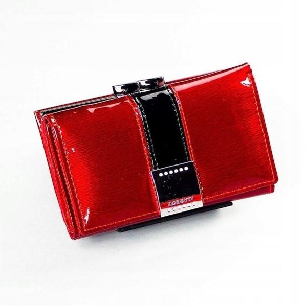 Женский кожаный кошелек красный 1216