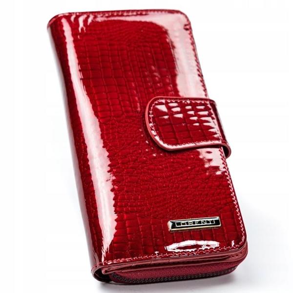 Женский кожаный кошелек красный 2772