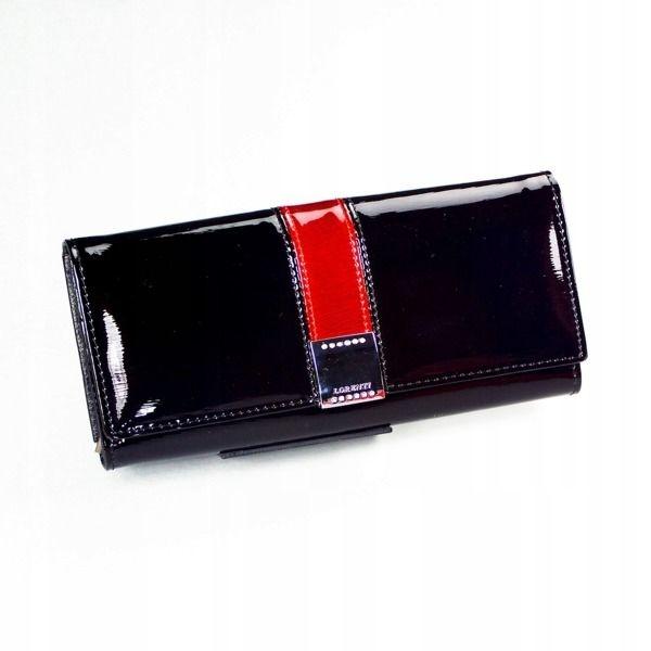 Женский кожаный кошелек черный 1161