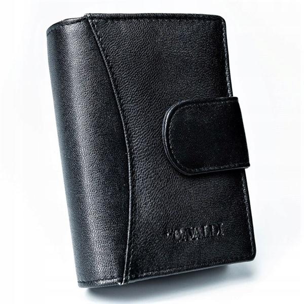Женский кожаный кошелек черный 2774