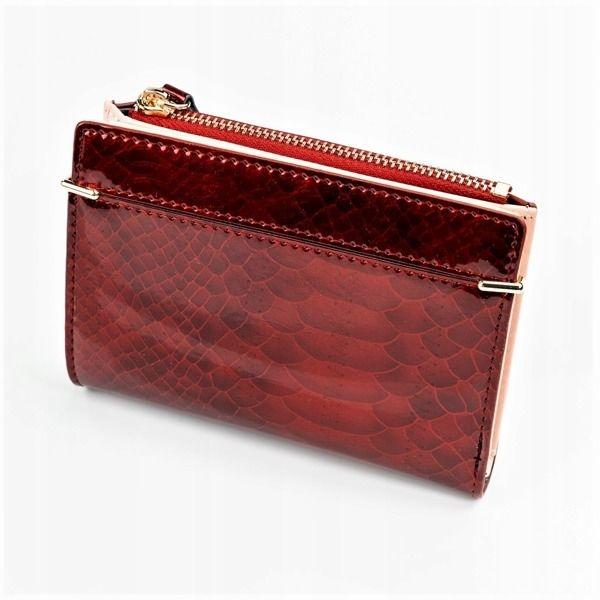 Женский кошелек с эко кожи красный 1054