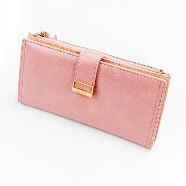 Женский кошелек с эко кожи розовый 1037