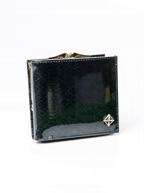 Женский кошелек с эко кожи черный 3006