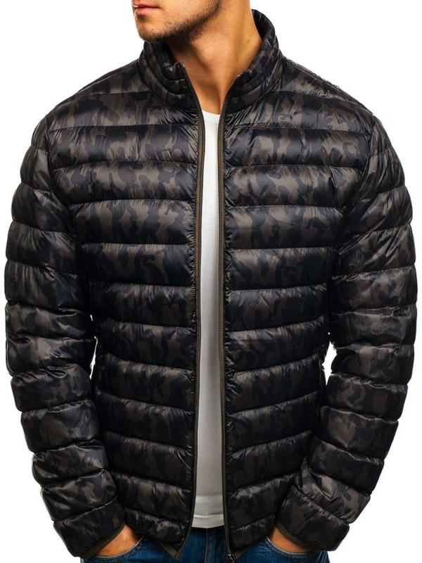 Зимняя мужская спортивная куртка камуфляж-хаки Bolf 3117