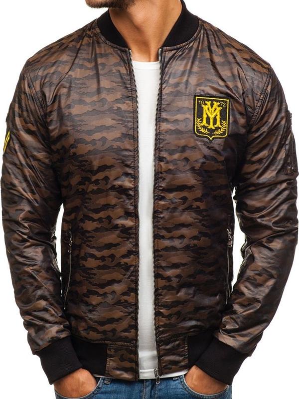 Камуфляж-коричневая мужская демисезонная куртка Bolf 5218