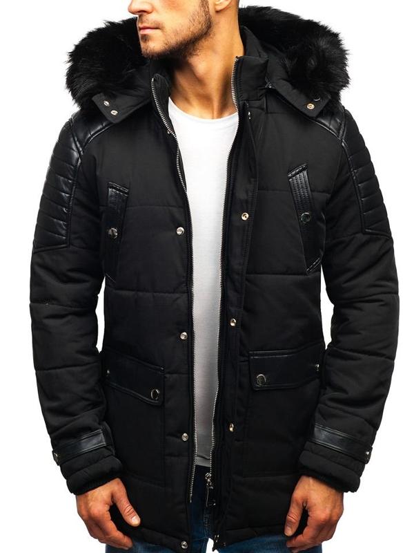 Мужская зимняя куртка черная Bolf 88852