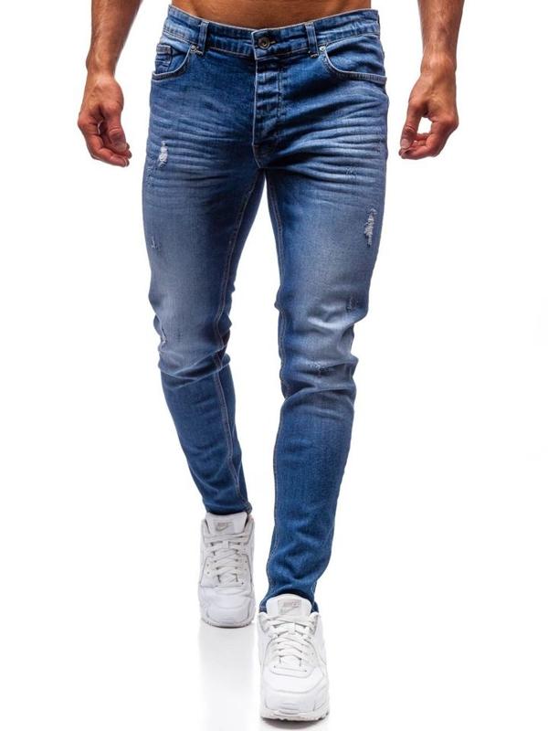 Мужские джинсовые брюки синие Bolf 1007