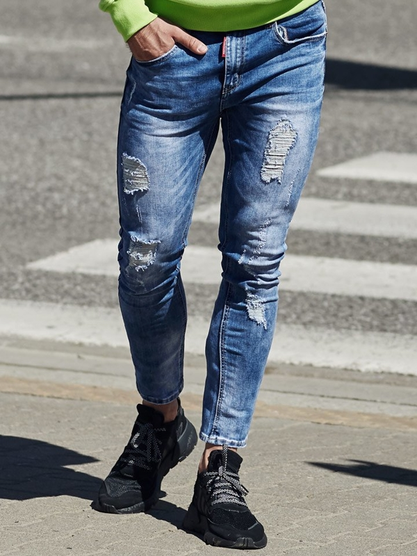Мужские джинсовые брюки синие Bolf 3947