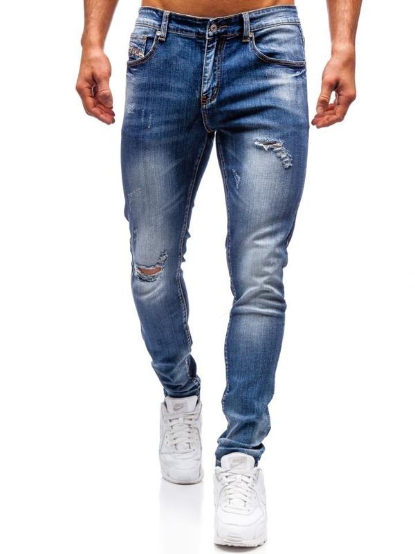 Мужские джинсовые брюки темно-синие Bolf 71824