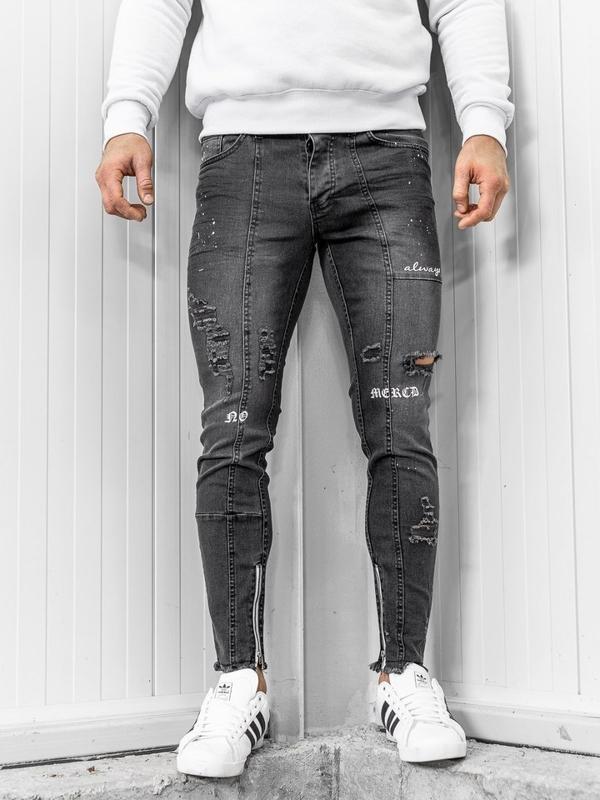 Мужские джинсовые брюки черные Bolf 1085