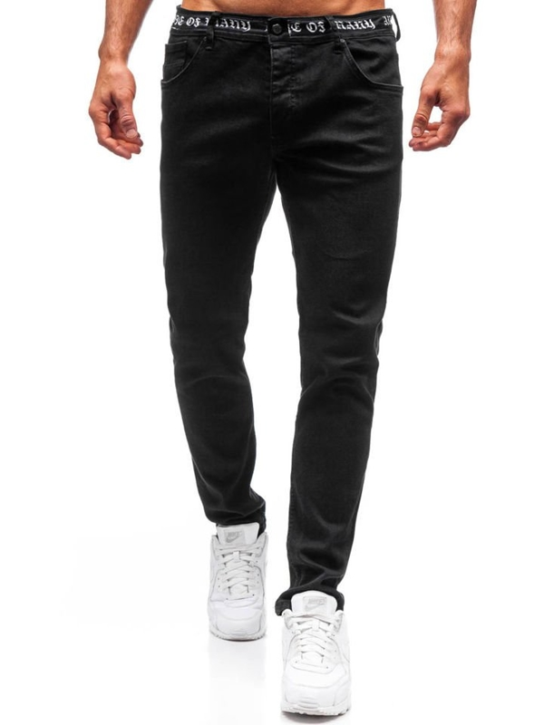 Мужские джинсовые брюки черные Bolf 3036