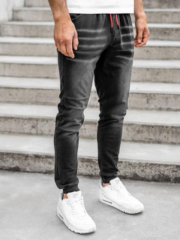 Мужские джинсовые джоггеры черные Bolf KK1101