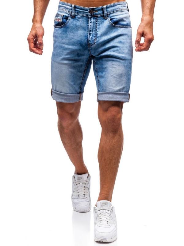 Мужские джинсовые шорты синие Bolf 7805