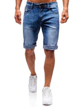 Мужские джинсовые шорты синие Bolf 7807