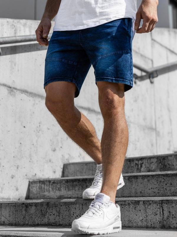 Мужские джинсовые шорты темно-синие Bolf KK108