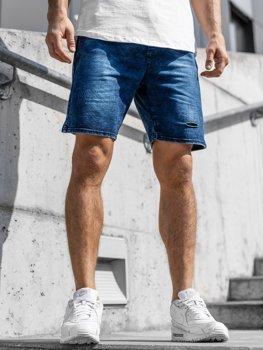 Мужские джинсовые шорты темно-синие Bolf KK111