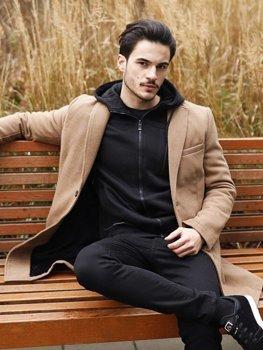 Мужское зимнее пальто кэмел Bolf 1047B