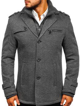 Мужское зимнее пальто серое Bolf 88805