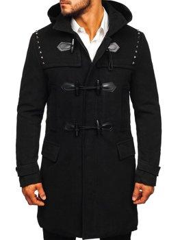 Мужское зимнее пальто черные Bolf 88870