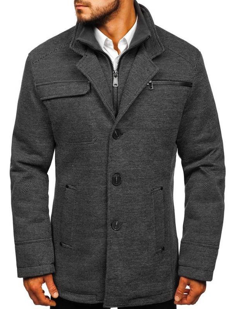 Мужское пальто серое Bolf 1977