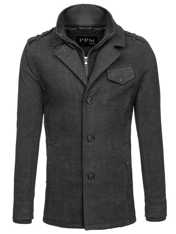 Мужское пальто серое Bolf 8853F