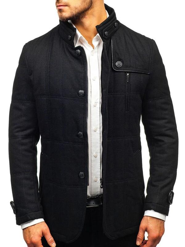 Мужское пальто черное Bolf EX66A