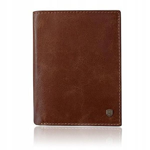 Мужской кожаный кошелек коричневый 922