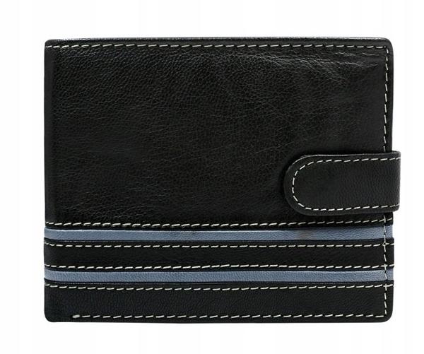 Мужской кожаный кошелек серый 588