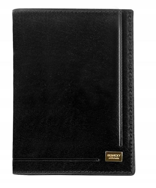 Мужской кожаный кошелек черный 144