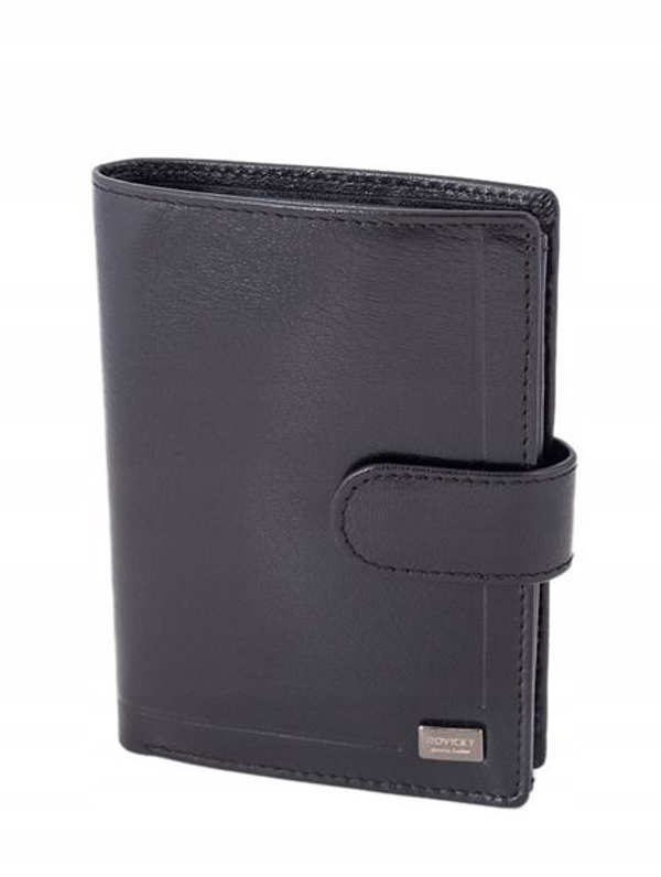 Мужской кожаный кошелек черный 240
