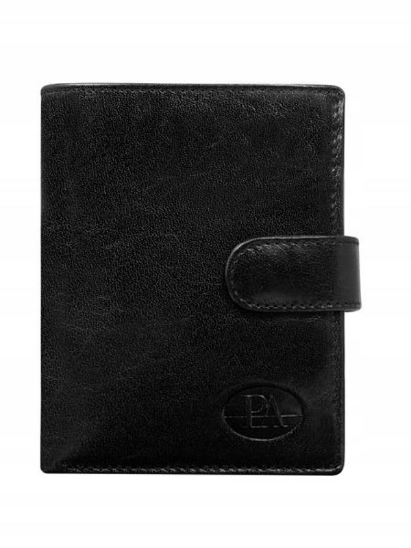 Мужской кошелек кожаный черный 74