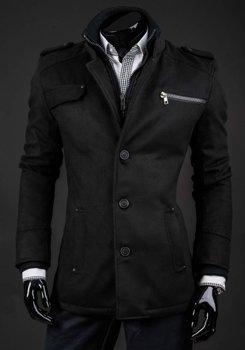 Пальто мужское зимнее черное Bolf 8856A