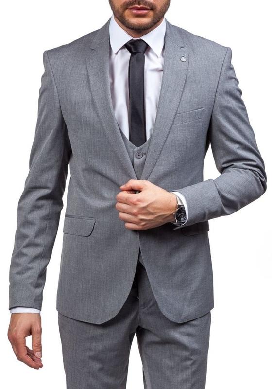Серый костюм мужской Bolf 5005