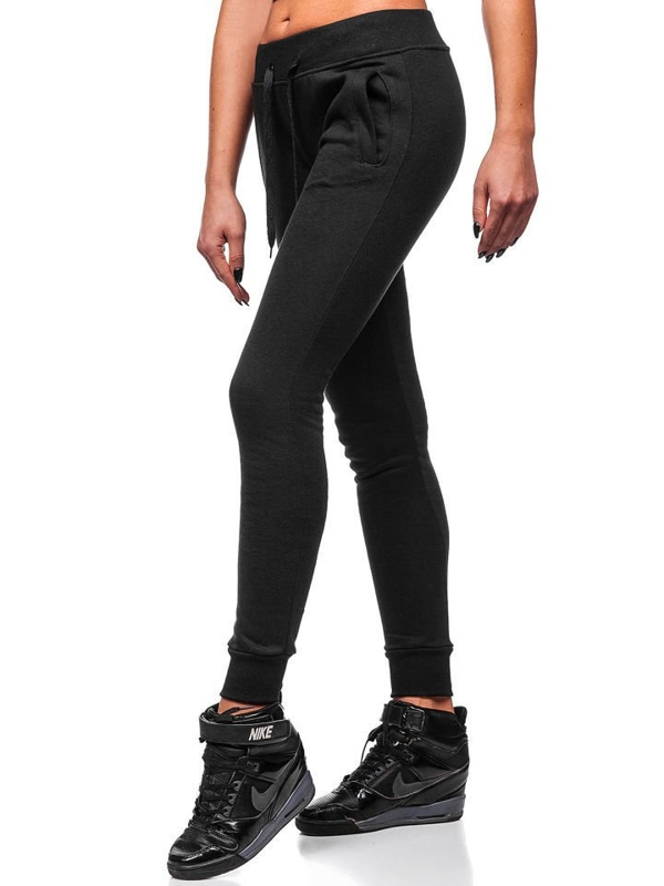 Спортивные штаны женские черные Bolf 77001