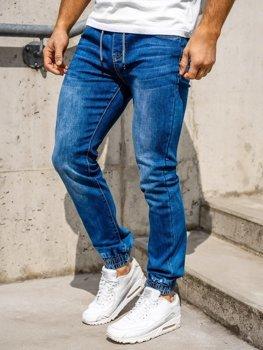 Темно-синие мужские джинсовые джоггеры Bolf KA1539