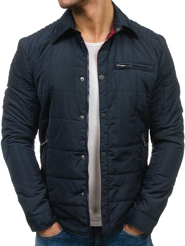 Темно-синяя мужская демисезонная куртка Bolf 1721