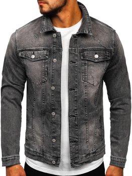 Черная мужская джинсовая куртка Bolf AK586