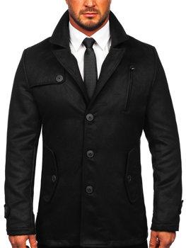 Черное зимнее мужское пальто Bolf 3127