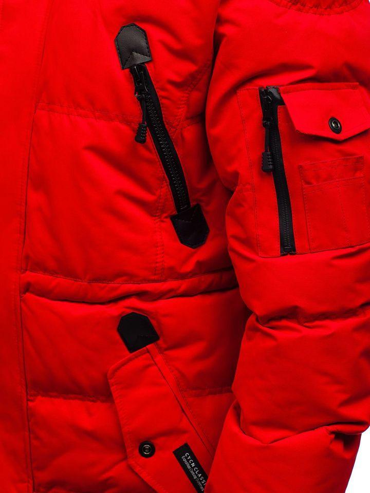 7bc8070e ... Лыжная мужская зимняя куртка красная Bolf 5423 ...