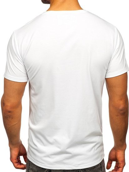 Белая мужская футболка с принтом Bolf Y70005