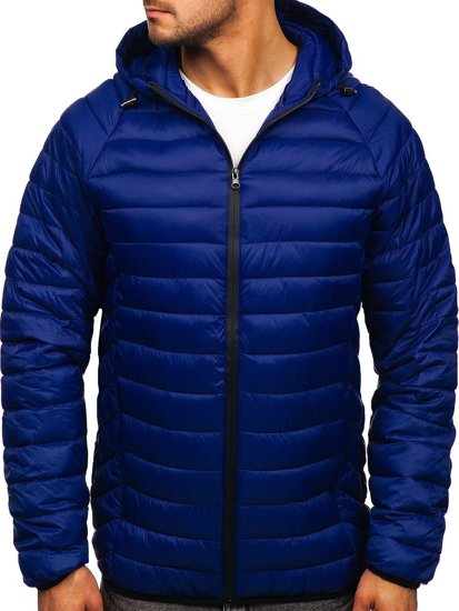 Васильковая стеганая мужская куртка Bolf 13021