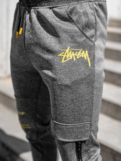Графитные мужские спортивные брюки карго Bolf K10286